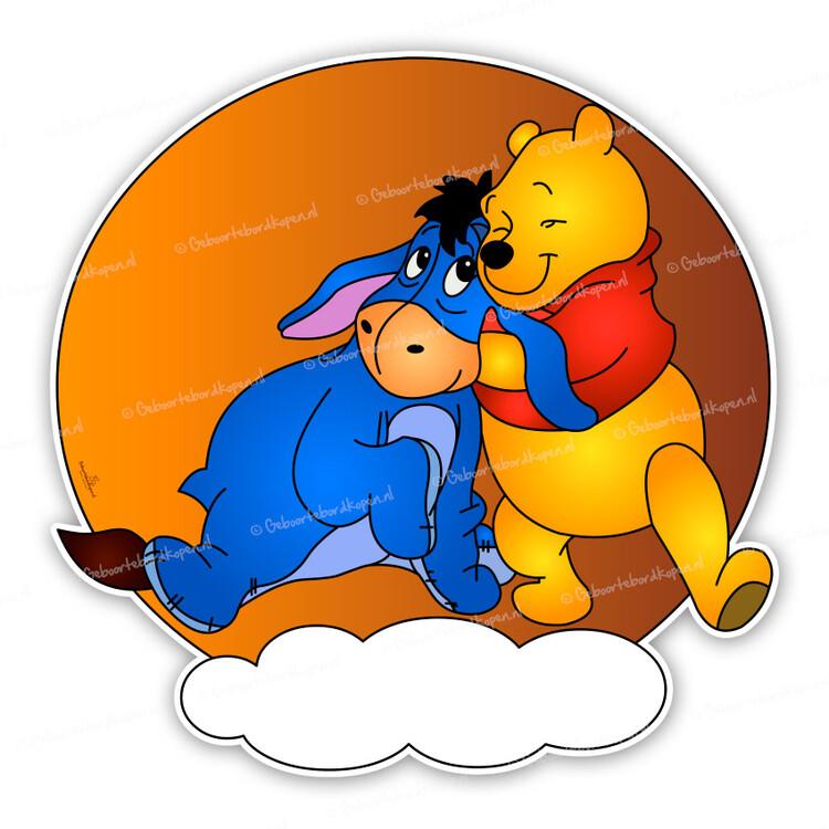 geboortebord winnie the pooh met iejoor. Black Bedroom Furniture Sets. Home Design Ideas