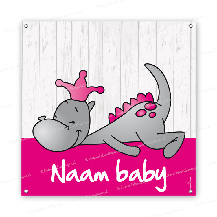 geboortespandoeken geboortespandoek draakje dirk roze