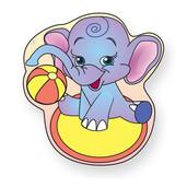 Geboortebord olifant met bal