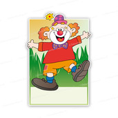 Geboortebord carnaval clown