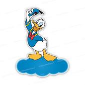 Geboortebord Donald Duck op naamwolkje