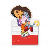 Geboortebord Dora knuffelt Boets