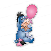 Geboortebord Iejoor met knuffel en ballon