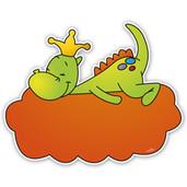 Geboortebord draakje op wolk