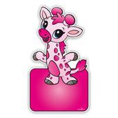 geboorteborden baby giraffe roze