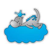 Geboorteborden draakje dirk - blauw