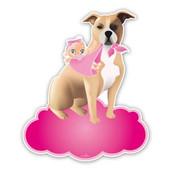 Geboorteborden hond met baby