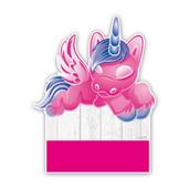Geboorteborden eenhoorn roze