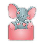 Geboorteborden olifantje