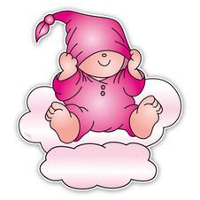 Geboorteborden Beertje Bobbi met slaapmuts roze