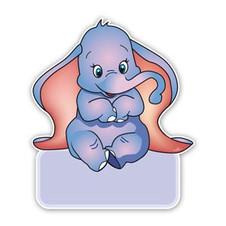 Geboorteborden olifantje dombo