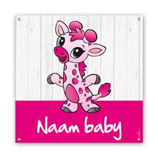 Geboorte spandoeken baby giraffe