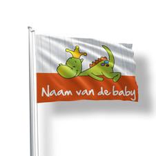 Geboortevlaggen draakje dirkje oranje