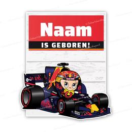 Geboortebord baby max verstappen formule 1 autosport