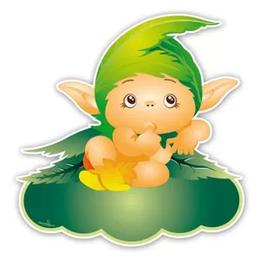 Geboortebord baby elfje