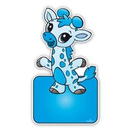 geboorteborden baby giraffe blauw