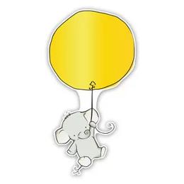 geboorteborden olifantje hangt aan ballon