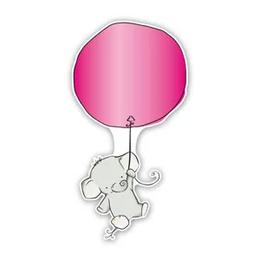 geboorteborden olifantjes ballon roze