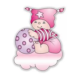 Geboorteborden beertje bobbi met bal roze