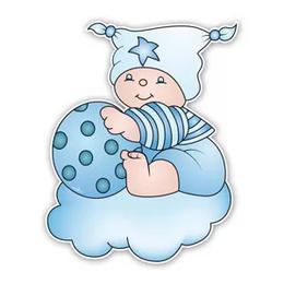 Geboorteborden Beertje Bobbi blauw met bal
