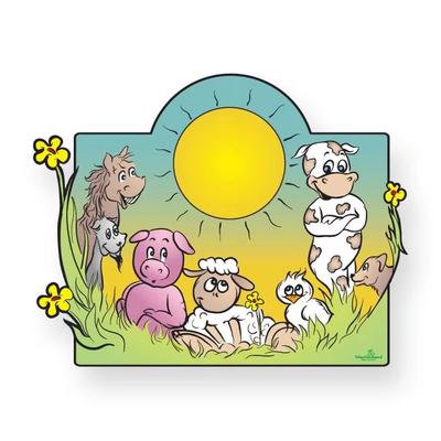 Geboortebord met boerderij dieren