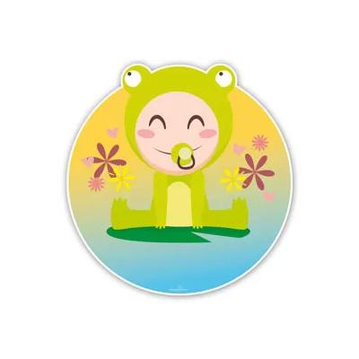 Geboorteborden baby kikker op lelieblad
